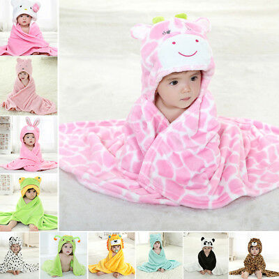 Baby Cloak Newborn Winter Fall Flannel Warm Cute Animal Style Bath Towel Blanket