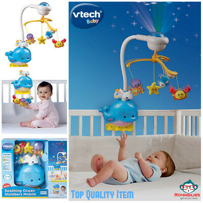New Baby Sleep Soothing Music Ocean Mobile Baby Infant Crib Bed Light Toy Gift