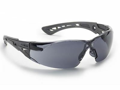 Bolle Rush+ Platinum Safety Glasses Spectacles Smoke Lens RUSHPPSF