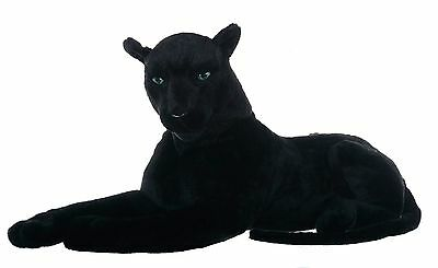 "28"" (71 cm) Medium Panther Wild Real Life Features Soft Plush  48664X"