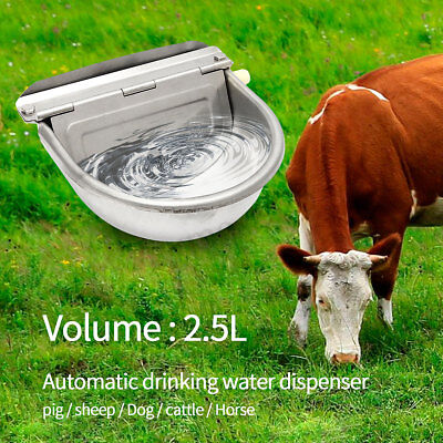 2.5L Automatic Water Trough Stainless Steel Horse Sheep Dog Chicken Auto Bowl