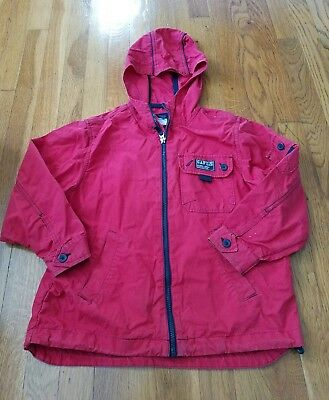 Boy's Gap Hooded Jacket Red Size Small 5/6