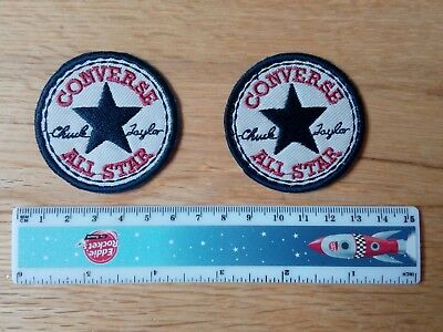 2 x CONVERSE  Embroidered Logo Iron/Sew-on Badge  NEW