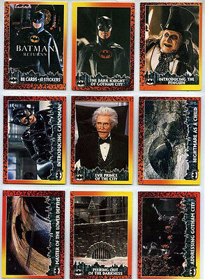 Batman Returns - Complete Card Set (1-88 + 1-10) 1992 Topps @ Near Mint