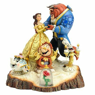 DISNEY TRADITIONS Carved by Heart Beauty and Beast Figurine *NEW*
