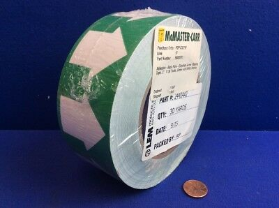 """LEM Pipe Banding & Directional Flow Tape 2"""" X 30-yards Green w/ White Arrows"""