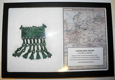 Large VIKING era BRONZE PECTORAL ORNAMENT - circa 800 to 1000 AD - Boxed Set