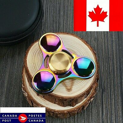 Hand Finger Spinner Tri Bearing Edc Fidget Stress Relief Focus Rainbow