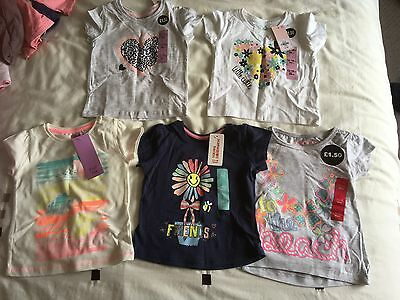 NEW Girls 12-18 mths / 1-1.5yrs shorts and t-shirts bundle - all BNWT