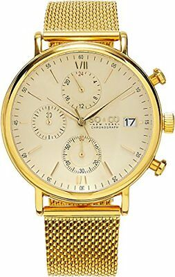 SO & CO New York Men's 5266M.4 Gold Stainless Steel Watch