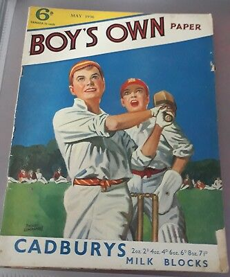 boy's own paper  May 1936 cricket   cover.