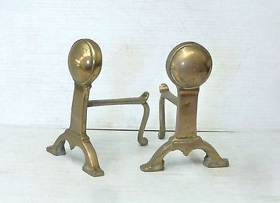 Vintage Brass Fire Dogs / Andirons fireplace accessories