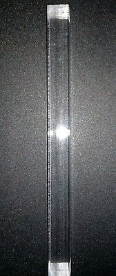 """Acrylic Extruded Square Rod - Clear - 11.875"""" Length x 1"""" Thick (Nominal)"""