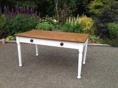 Pitch Pine Kitchen Table. Old School Desk