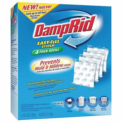 Damprid Desiccant Refill, Protected 250 sq ft, PK4 - FG92
