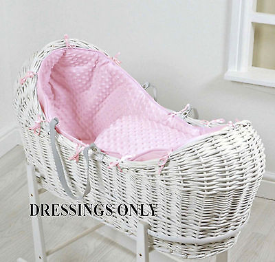 New 4Baby Pink Dimple Snooze Pod Basket Dressings Extra Basket Cover