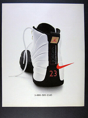 1996 Nike Air Jordan XII 12 Shoes color photo vintage print Ad