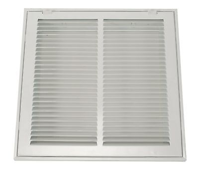"Filtered Return Air Grille, 14x24"", White - 4MJT7"