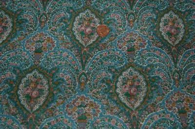 """Vintage Cotton Voile Printed Floral Paisley 108""""x 45""""Sewing Craft c1960-70s"""