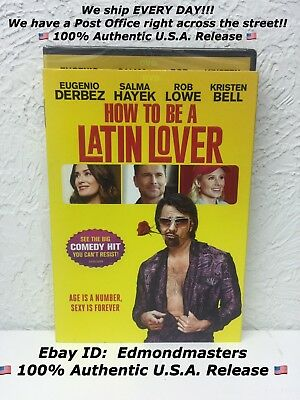 How To Be A Latin Lover 2017 DVD Brand New Sealed, Beware of Cheap Fakes Sold!