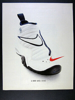 1996 Nike Air Shake NDestrukt Shoes color photo vintage print Ad