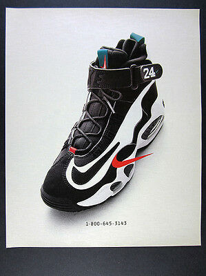 1996 Nike Air Griffey Max 1 Shoes color photo vintage print Ad