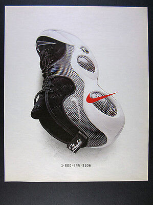 1996 Nike Air Zoom Flight Shoes color photo vintage print Ad