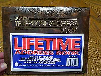 New 1991 Telephone & Address Book Vintage Sealed by Deluxe Craft