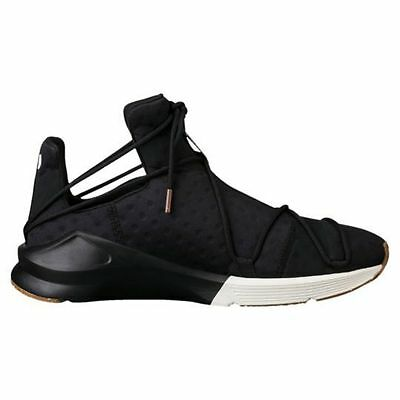 f4facd13891c Puma Womens Fierce Rope VR Black Trainers Shoes Gym Girl Gum New 190136-02
