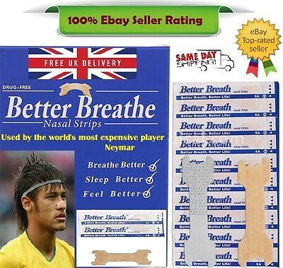 Nasal Strip - Breathe Right Better Easy *Snoring* + Free Strips ~ Used by Neymar