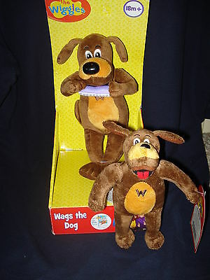"NWT New The Wiggles TV Show 10"" And 7"" Wags The Dog Plush Stuffed Toys GREAT!!"