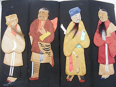 Great Chinese Figures Made In Cloth On Silk,ceiling Hanging?