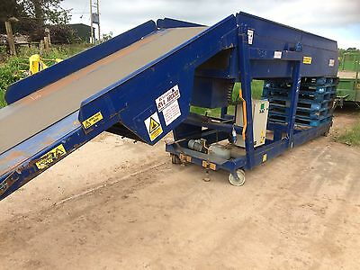 TELESCOPIC CONTAINER TRAILER LORRY LOADING CONVEYOR ELEVATOR pallet boxes