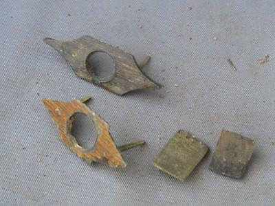 2 old brass fittings to secure the inside lids  for a writing box / lap desk