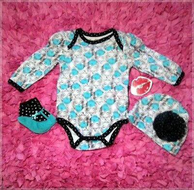 Marilyn Monroe Baby Clothes (3-piece set) 3/6M