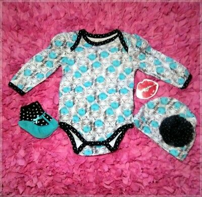 Marilyn Monroe Baby Clothes (3-piece set) 6/9 M