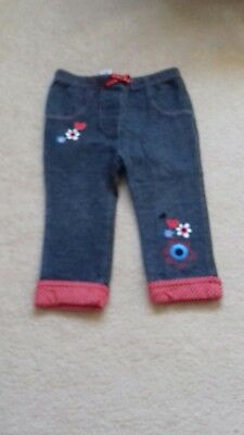 Girls Cute M&CO Jeggings /Leggings Age 12-18 Months