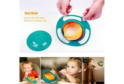 baby Teller schale Gyro Bowl 360 Rotating obstschale  Rosa