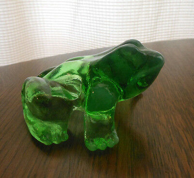 "4-1/2"" x 4-1/2"" Glass Frog Figurine Paperweight"