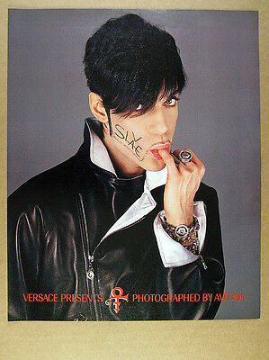 1996 Prince photos by Richard Avedon Versace vintage print Ad