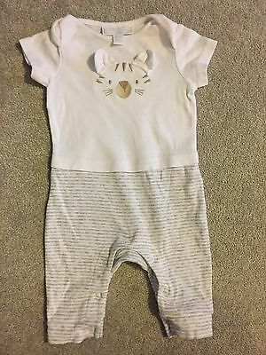 the little white company babygrow 0-3 months