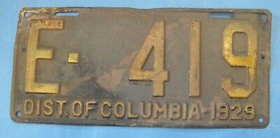 1929 DC license plate District of Columbia