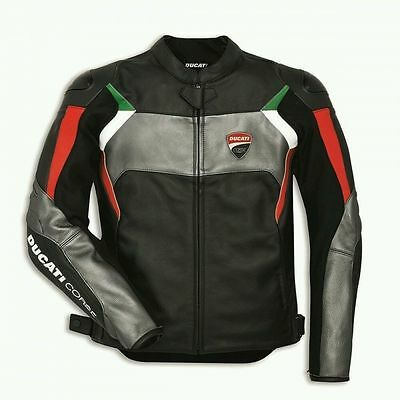 DUCATI CORSE Motorbike Motorcycle Motogp Leather Jacket All Sizes-SPECIAL OFFER