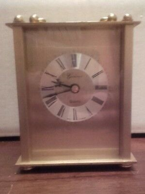 Geneve quartz west germany brass carrage clock