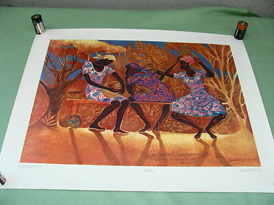 """1982 Zachariah Augustus Anderson """"Gossip"""" Signed and Numbered Art Print"""