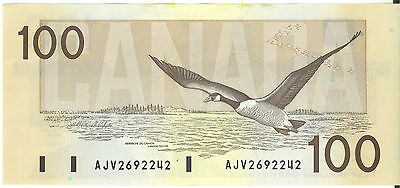 Bank of Canada 1988 $100 Hundred Dollars Banknote Thiessen- Crow AJV Prefix UNC