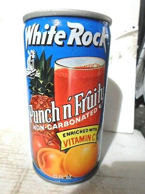 White Rock Punch-N-Fruity Steel Soda Can / Pop Can