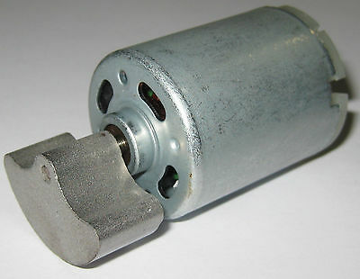12 VDC Shaker Motor - 4000 RPM - Heavy Massager Metal Weight - 6 to 12 V DC