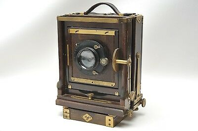 Ansco 5x7 Wood Filed Camera with 21cm 4.5 Lens