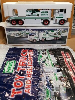 Hess Toy Truck and Helicopter 2006 In original box with bag rare NEW